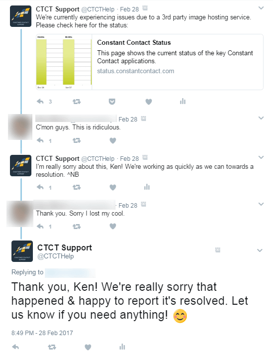 How to deal with bad reviews based on CTCT Support conversation with unhappy client.