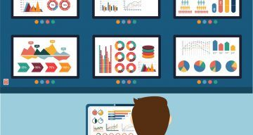 Analytic information, info graphic and development website statistic.