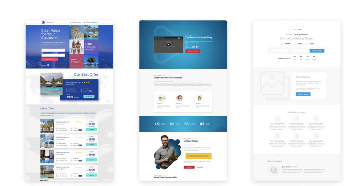 print screen from a digital marketing tool Landingi