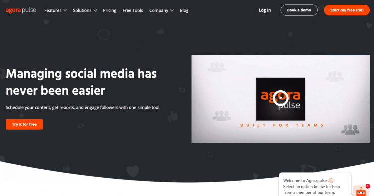 print screen from Agorapulse, a media monitoring tool