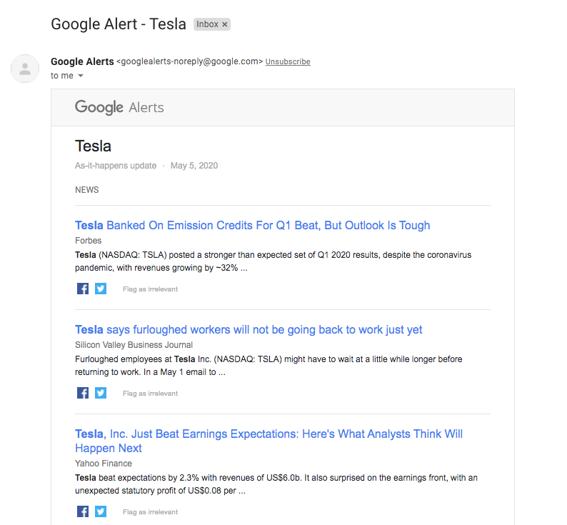 The image shows an email notifications about mentions from Google Alerts