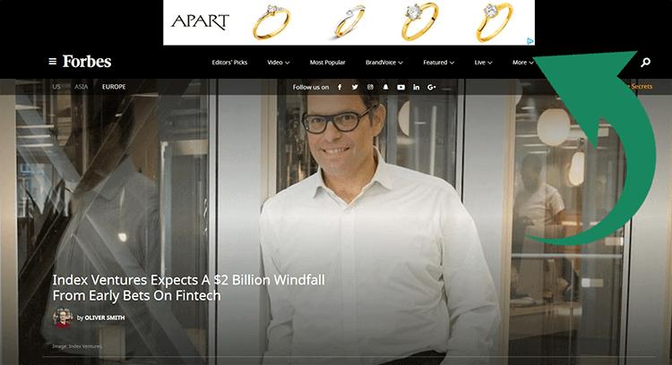 remarketing ad featuring diamond rings
