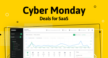 An image showing Brand24's panel and saying it's Cyber Monday