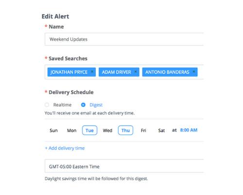 Critical Mention e-mail alerts