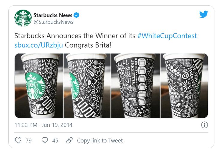 Starbucks' contest