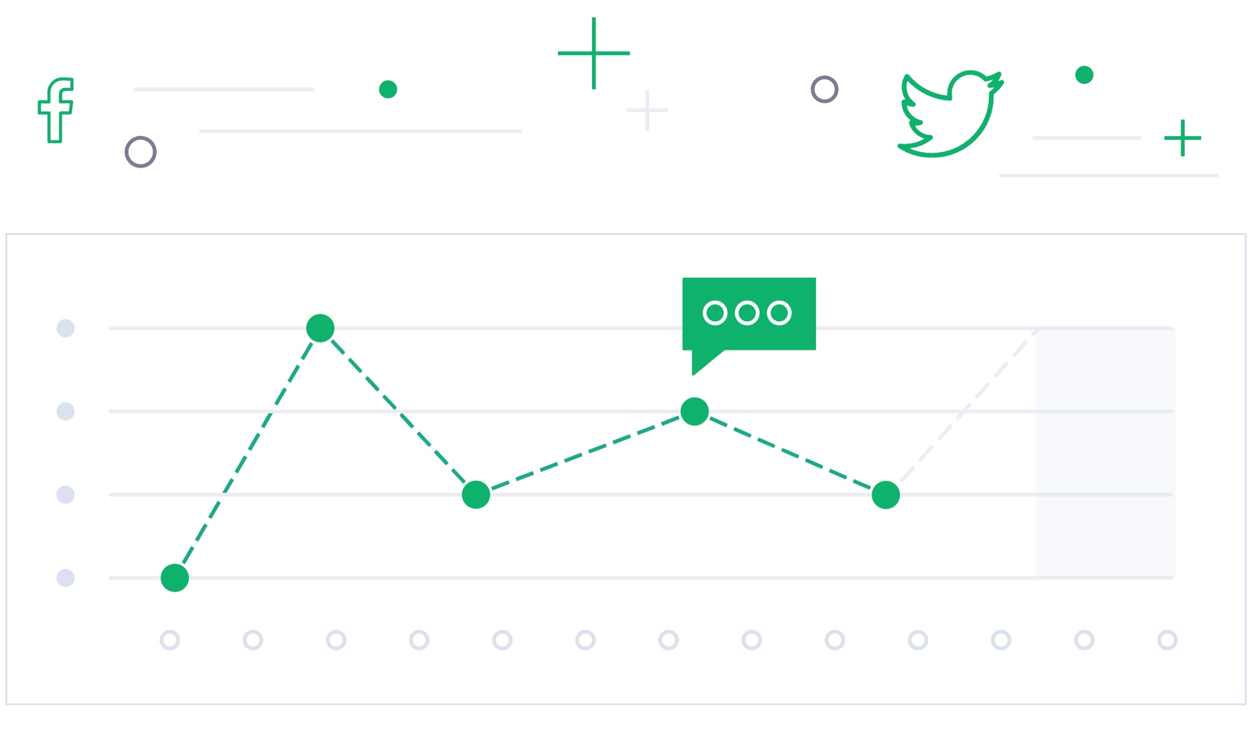 Custom chart artwork on Trending Hashtag landing page